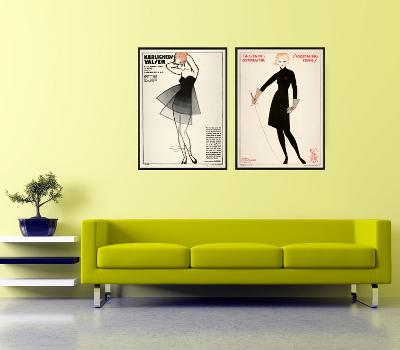 Skønne kvinder på plakaten