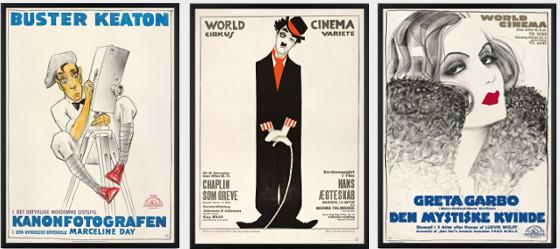 Oscarvinderne Keaton, Chaplin og Garbo