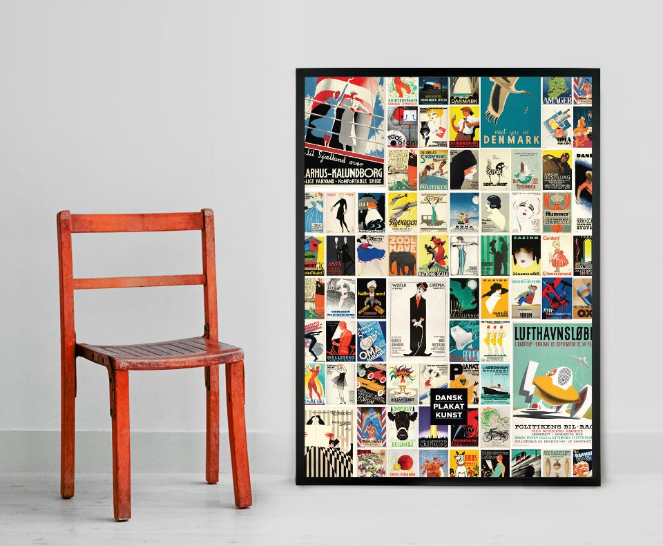 Dansk Plakatkunst Collage 2015