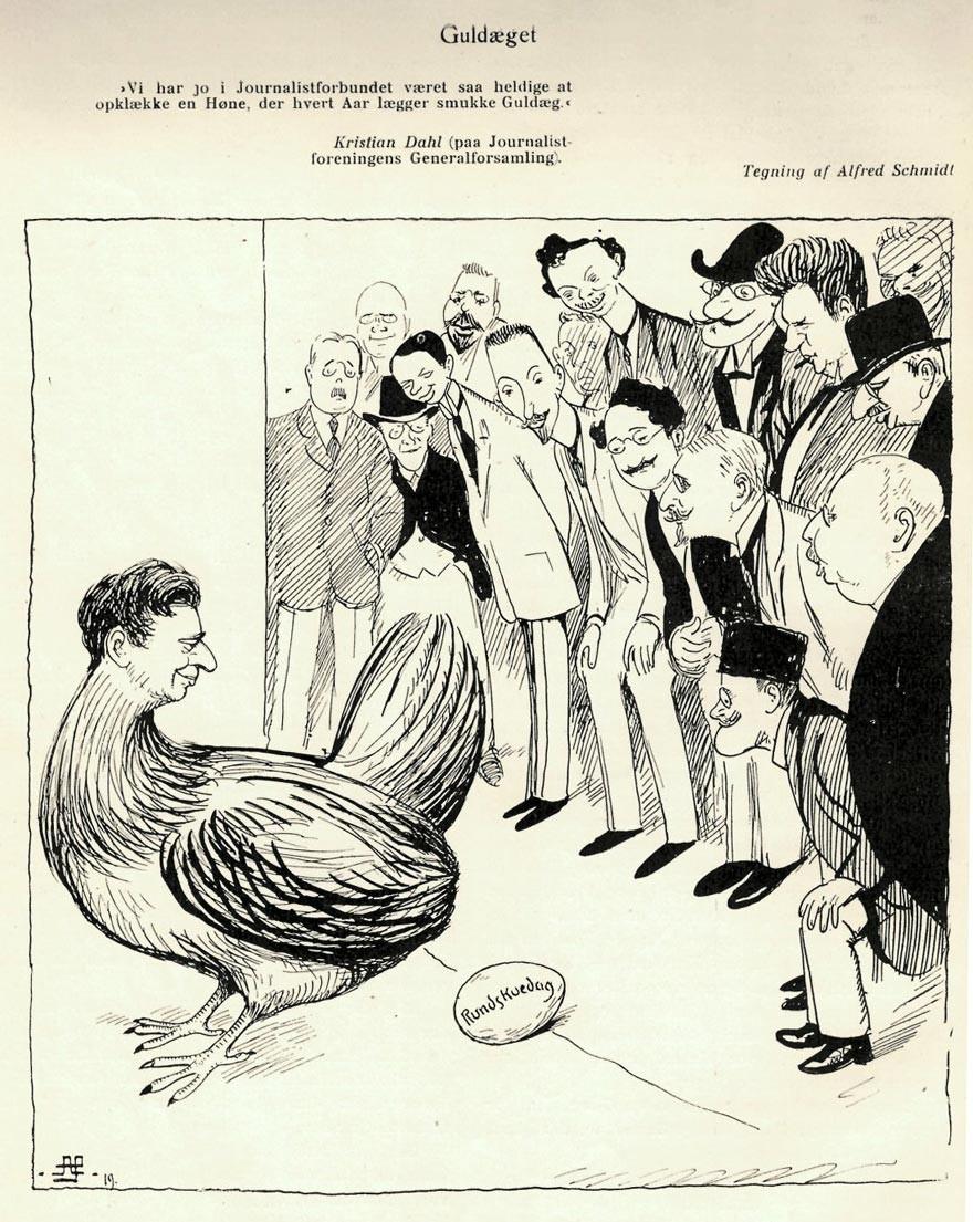 Rundskueæg - tegning af Alfred Schmidt