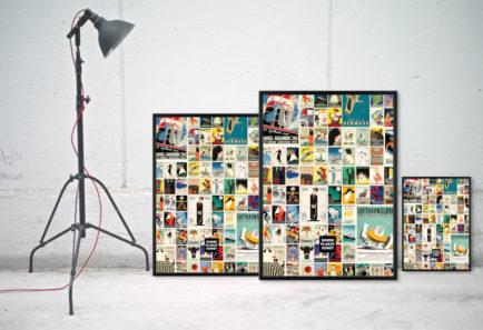 Collage plakat Dansk Plakatkunst