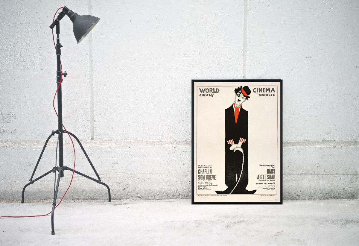 Chaplin plakat fylder 100 år