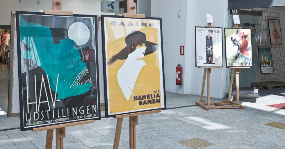 Dansk Plakatkunst på Ros Torv i Roskilde
