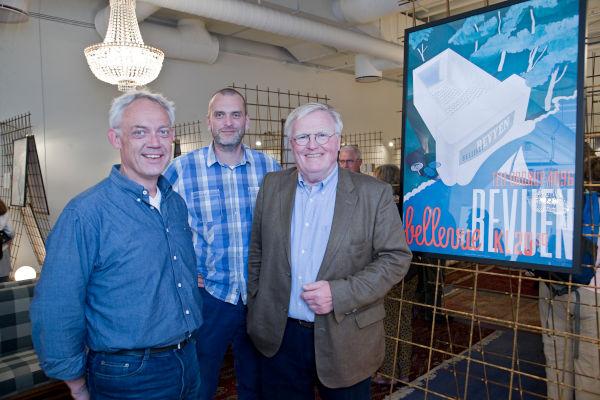 Troels Rasmussen, Nikolaj Pors og Per Arnoldi på Ros Torv i Roskilde.