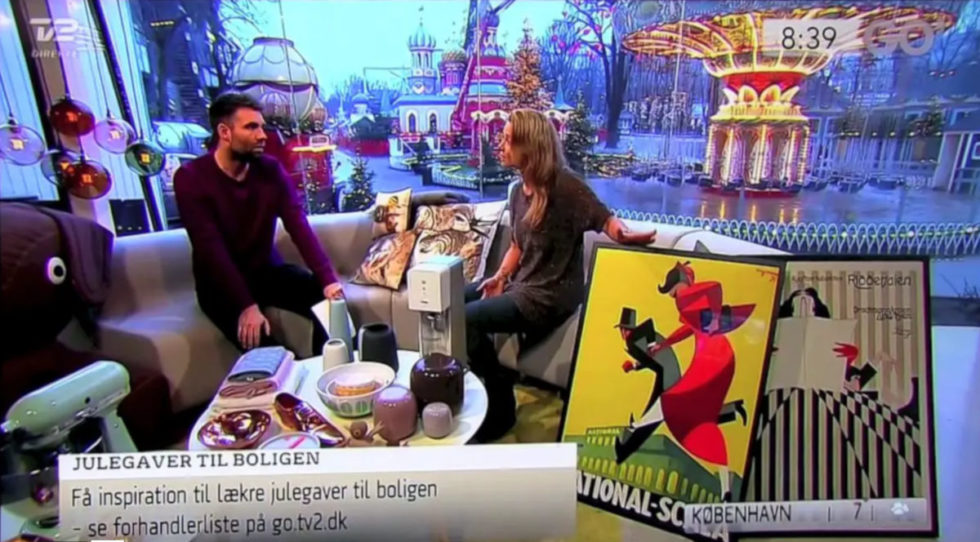 Dansk Plakatkunst i TV2 Lorry